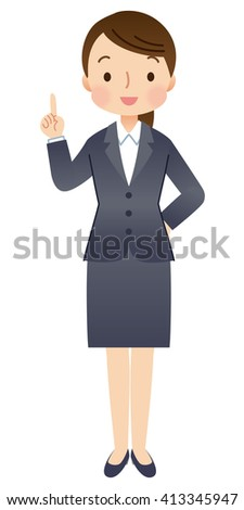 cute style business woman