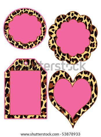 cute tags and disc in leopard print and pink , perfect for the diva!