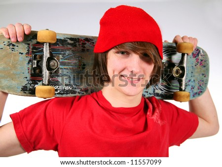 stock photo cute teen boy smiling holding skateboard 11557099 Blonde Emo Boy Cute Hair.jpg; Blonde Emo Boy Cute Hair.jpg