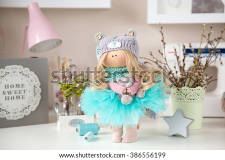 Cute Textile Handmade Interior Doll #386556199