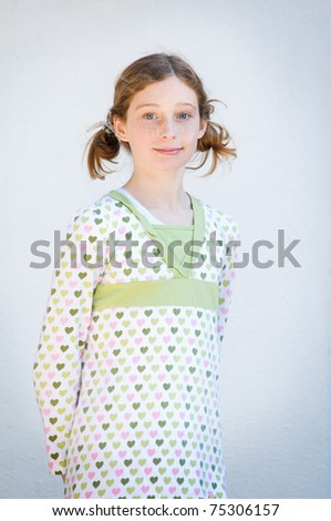 cute twelve year old girl with pigtails