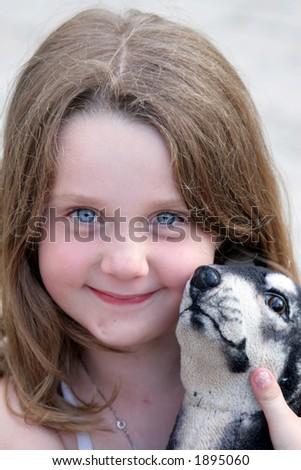 Cute young girl - stock photo