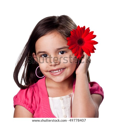 Cute young girl playing dress up