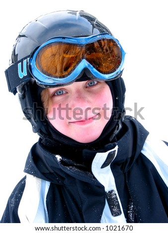 cute girls with goggles