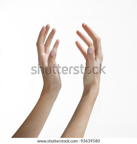 cutout / isolated human hand