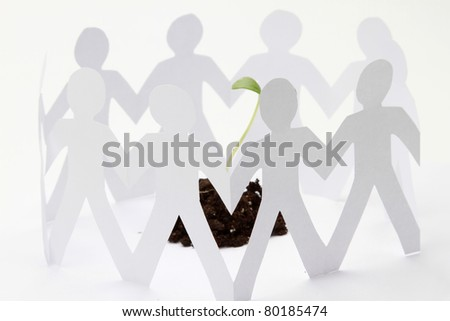 cutouts of paper people