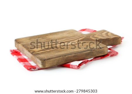 Shutterstock Cutting board isolated on white