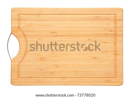 Cutting board isolated on white a white background