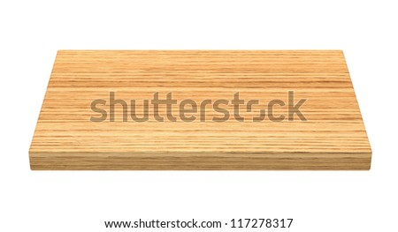 Cutting board - isolated on white background