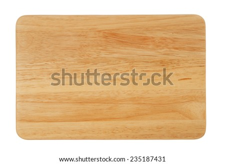 Cutting board isolated on white background  Foto stock ©