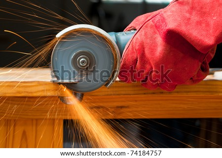 cutting steel with a small grinder