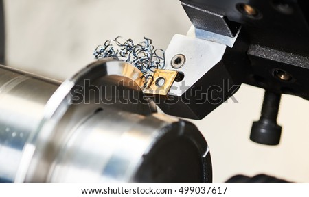 cutting tool at mechanical turning metal working