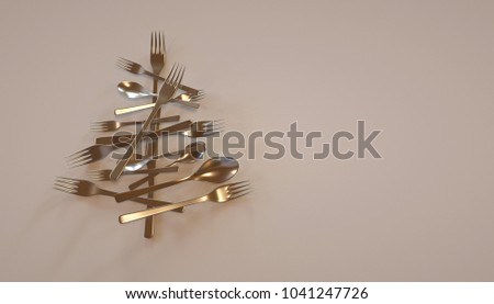 Cuttlery Christmas Tree