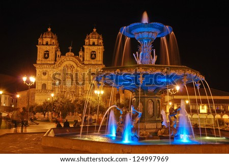 Cuzco, Peru - Plaza de Armas - stock photo