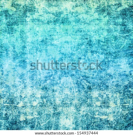 Cyan Blue Grunge paper background with space for text or image. Designed old grunge abstract style or concept.