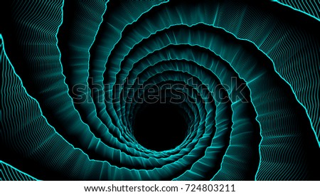 Cyan vortex abstract hole background. Spiral texture for web design, wallpaper, modern design, commercial banner and mobile application.