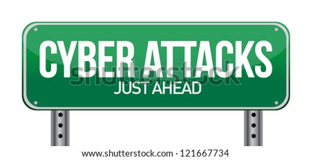 cyber attacks as a technology concept illustration design