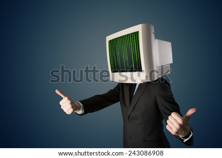 cyber business human with a