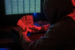 Cyber criminal calculates revenue from extortion or a virus program.
