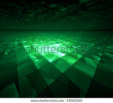 Cyber Kryptonite Glow - fractal illustration