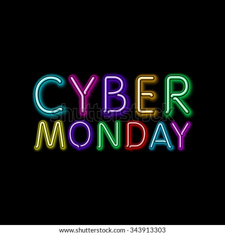 cyber monday sale background. illustration of embossed letters on blurred background. text. art