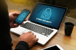 CYBER SECURITY Business, technology,FirewallAntivirus Alert Protection Security and Cyber Security Firewall