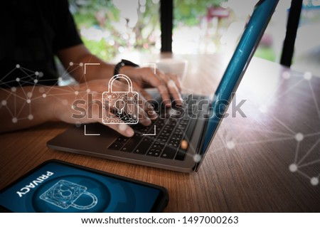 CYBER SECURITY Business technology secure Firewall Antivirus Alert Protection Security and Cyber Security Firewall Stock photo ©