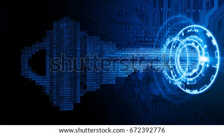 cyber security concept  a key...