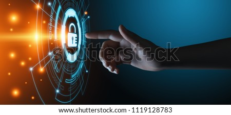 Cyber Security Data Protection Business Technology Privacy concept. #1119128783