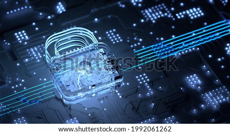 Cyber Security Email Phishing Ransomware Internet Technology 3d Illustration