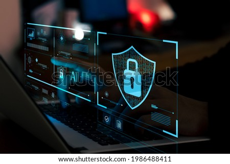 cyber security essentials, digital crime prevention by anonymous hackers, personal data security and banking and finance.