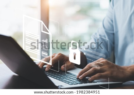 Cyber security internet and networking concept. information security and encryption, secure access to user's personal information, secure Internet access, cybersecurity.