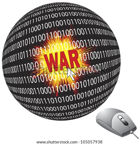 Cyber war with the computer mouse, part of modern warfare