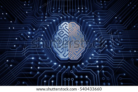 cybernetic brain. electronic...