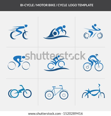 Cycle Motor Cycle Logo Template. Bi Cycle Logo. Motor Cycle Logo, Bike Logo.