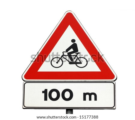 Cycle route ahead  - traffic sign