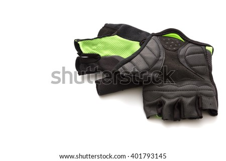 Cycling gloves isolated on white background Stock photo ©