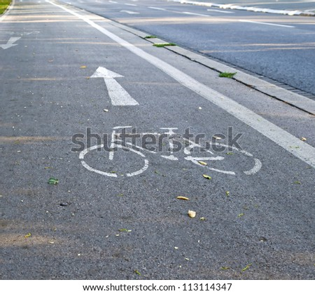 Cycling lane in Graz, Austria