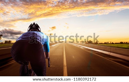 Cycling on the road.