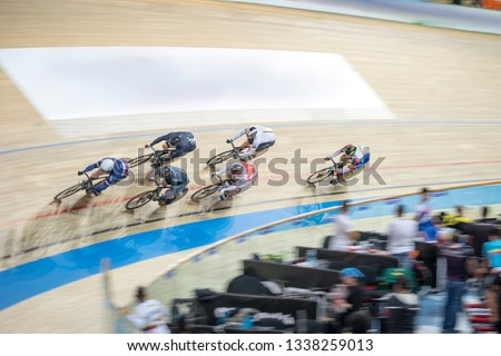 cycling race on the cycling track
