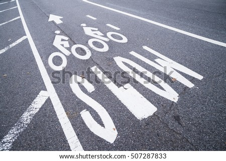 cycling road sign #507287833