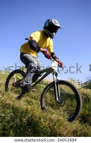 cyclist - stock photo