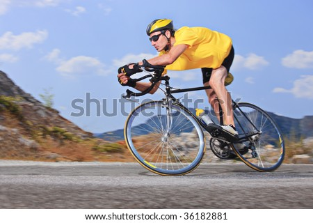 Cyclist - stock photo