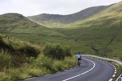 Cyclist in Connemara, Co. Galway, Ireland
