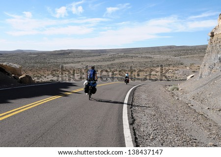 Cyclist in North Argentine