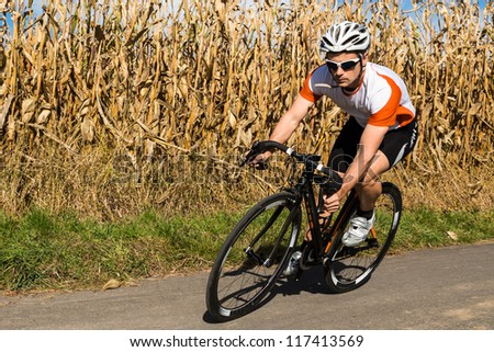 cyclist on a race bike