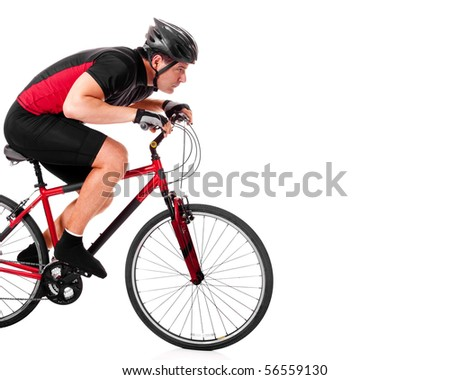 Cyclist Riding Bike