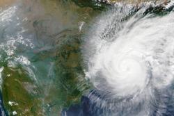 Cyclone Bulbul heading towards India and Bangladesh in November 2019 - Elements of this image furnished by NASA