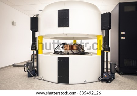 Cyclotron complex for radionuclides synthesis and isotope production in an oncology laboratory in a hospital, Sofia, Bulgaria, October 23, 2015.