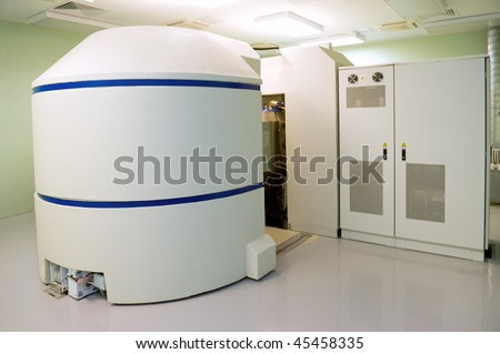 Cyclotron for radionuclides synthesis is direct in clinical medical center